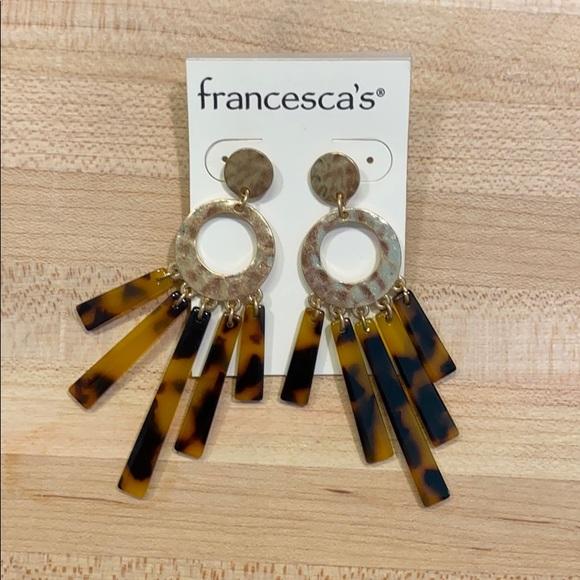 Francesca's Collections Jewelry - Francescas tortoise earrings